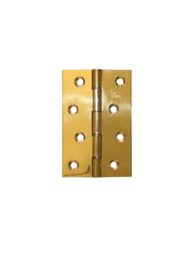 Pair Solid Brass Door Hinges Carlisle Double Steel Washered Butt Hinges HDSW2//BP