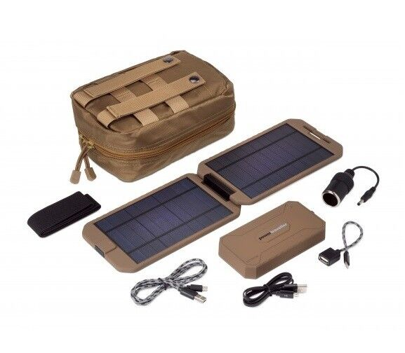 POWERTRAVELLER EXTREME TACTICAL SOLAR CHARGER FOLDING COMPACT POWER GENERATOR