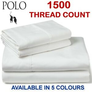 POLO-1500-THREAD-COUNT-COTTON-RICH-FITTED-SHEET-SET-QB-amp-KB-SIZES-AVAILABLE