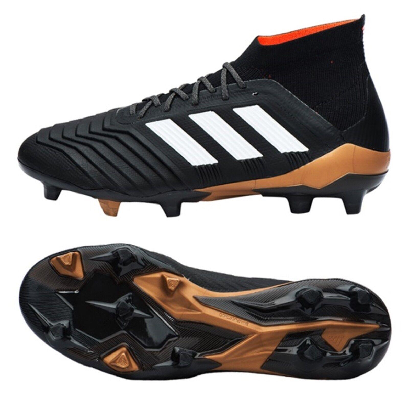 Adidas Hombres Projoator 18.1 FG Botines De Fútbol Fútbol Negro Gimnasio Zapatos Spike BB6354