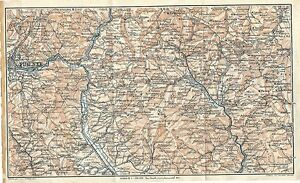 Firenze Cartina Geografica.Carta Geografica Antica Firenze Valdarno Casentino Tci 1923 Old Antique Map Ebay