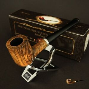 HAND-MADE-WOODEN-TOBACCO-SMOKING-PIPE-BRUYERE-no-71-Olive-Briar-Straight-BOX