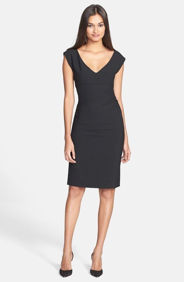 Diane von Furstenberg 'Bevin' Ruched Knit Sheath Dress ( Size 8)