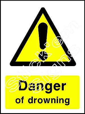 Other Agriculture & Forestry Coun0036 Stickers & Signs Easy To Use Cooperative Danger Of Drowning Business & Industrial