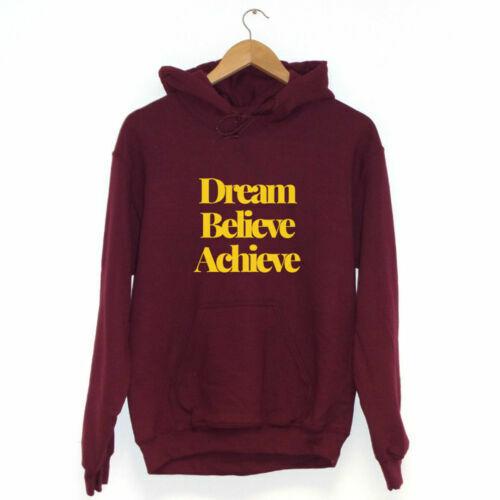 Dream Believe AchieveHoodie Inspirational Gift Present
