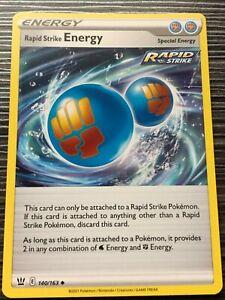 Pokemon : SWSH BATTLE STYLES RAPID STRIKE ENERGY 140/163 UNCOMMON