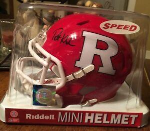 Patrick Kivlehan SIGNED Rutgers Scarlet Knights mini helmet - Pittsburgh Pirates