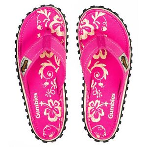 Gumbies Islander WOMENS PINK HIBISCUS Comfort Infradito NUOVA STAGIONE