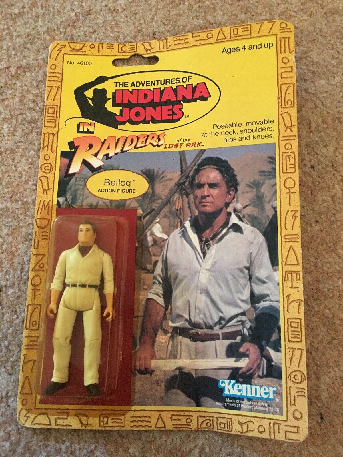 Indiana Jones Belloq Figur Raiders of the Lost Ark Kenner 1982 Vintage 9 Back