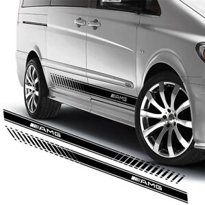 For Mercedes Vito Amg 2 X Vinyl Stickers Side Stripes Decals