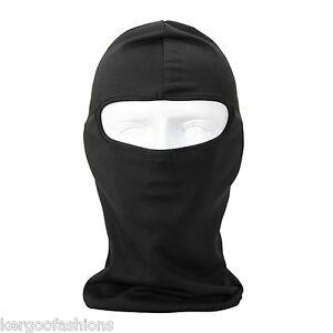 Black-Motorcycle-Bike-Balaclava-Helmet-Liner-Synthetic-Silk-Balsilk-Ski-Headwear
