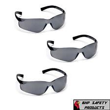 3 Pair Pyramex Mini Ztek Safety Glasses Smoke Gray Lens Kids S2520sn Z87