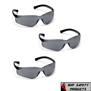 3-PAIR-PYRAMEX-MINI-ZTEK-SAFETY-GLASSES-GRAY-SMOKE-LENS-KIDS-S2520SN-Z87