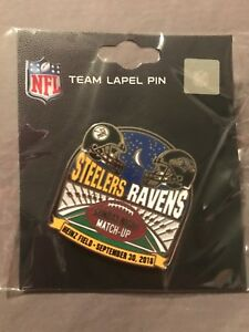 RARE-Pittsburgh-Steelers-Baltimore-Ravens-Game-Day-Pin-9-30-18-Heinz-Field