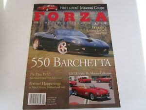 FORZA-MAGAZINE-FERRARI-Issue-36-April-2002-550-Barchetta-Maserati-Coupe-250-LWB