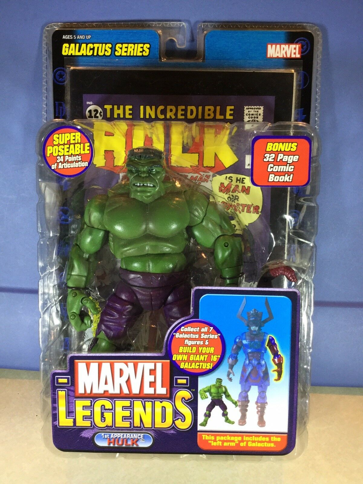 Marvel Legends Toybiz Hulk BAF Galactus