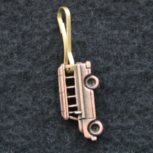 Cast School Bus Zipper Pull Choose Color