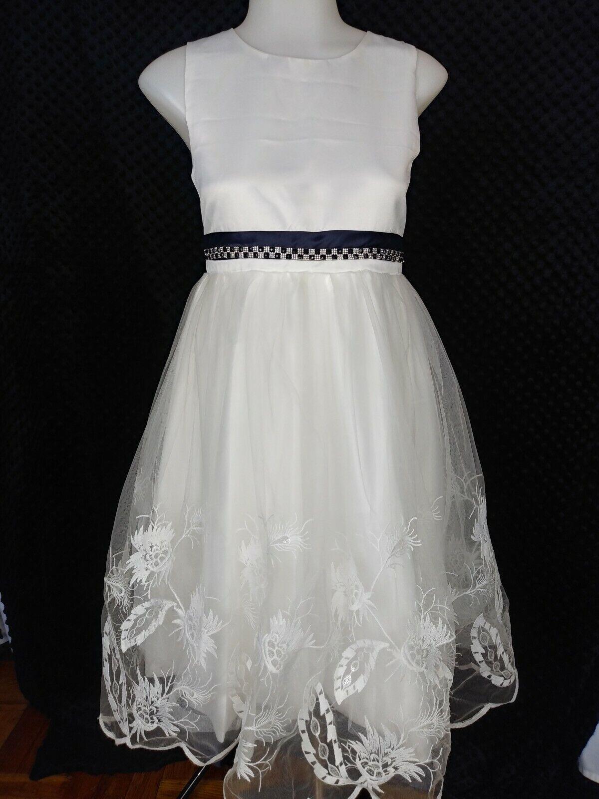 Kids World of USA Girls Dress White 16 Communion Baptism Flower Zip Fully Lined