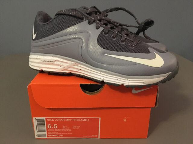online retailer 9d5c5 c985c NIB Mens Nike Lunar MVP Pregame 2 Running (684690) 011 white graphite SIZE