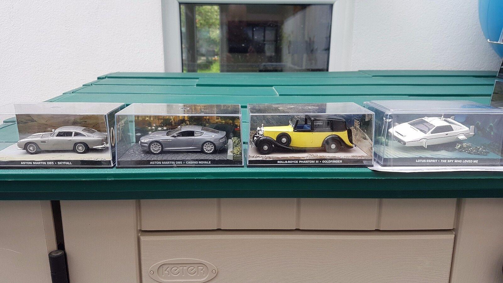 4 clásicos coches de James Bond Diecast-Totalmente Nuevo-Lote De Trabajo