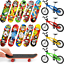 14 Pièces Finger Skateboards Bikes Fingerboards Doigt Vélo Mini doigt Cadeaux