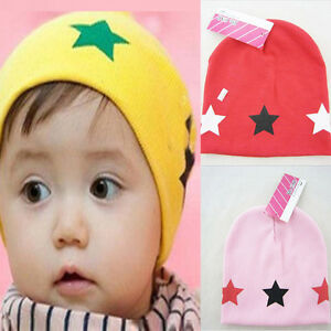 e273221e40b Baby Newborn Kid Girl Boy Cute Star Beanie Cap Casual Warm Hat for 1 ...