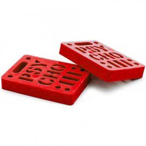 Vision-Psycho-Brand-1-2-034-STENCIL-LOGO-Dual-Bolt-Pattern-Skateboard-Risers-RED