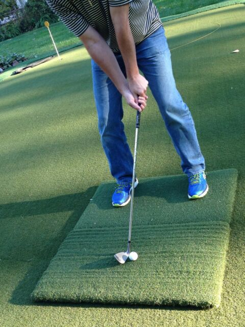 Country Club Elite Golf Practice Mat 2 Piece Real Feel Portable Twin Combo 2nd