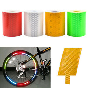 New 1pcs 5cmx3m Reflective Stickers Safety Mark Reflective Tape Stickers Adhesive Warning Tape Vehicle Reflective Material Roadway Safety