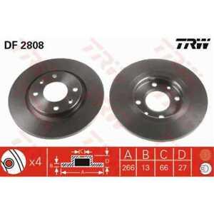 TRW-2x-Brake-Discs-Full-Painted-Black-DF2808
