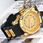 New Cool Fashon Men's Quartz Watch Large Dial Silicone Band Wristwatch B8