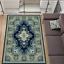 Teppich Persisch Orientalisch Klassisch mit Ornament Wohnzimmer Blau 7 Größen