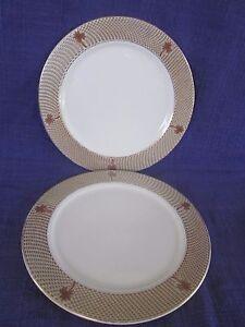 Homer-Laughlin-Seville-Palm-Tree-DINNER-PLATE-1-of-2-available