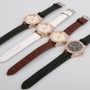 10pcs Wholesale Fashion Round Women Men Lovers Leather Quartz Wristwatches U60M
