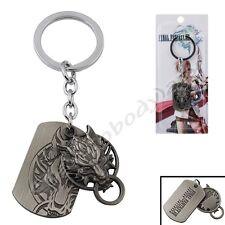 Final Fantasy VII Cloud Wolf Logo Key Ring Chain New In Box