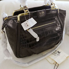 NWT COACH AMELIA OSTRICH EXOTIC EMBOSSED LEATHER EXPRESSO SATCHEL BAG RARE $1000