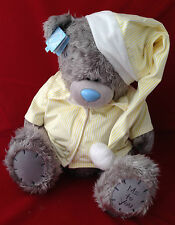 "ME TO YOU BEAR TATTY TEDDY X LARGE 24"" YELLOW PYJAMAS & HAT BEDTIME BEAR PLUSH"