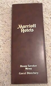 Vintage- Room Service Menu/Guest Directory For The Marriott Hotel, Nashville, TN