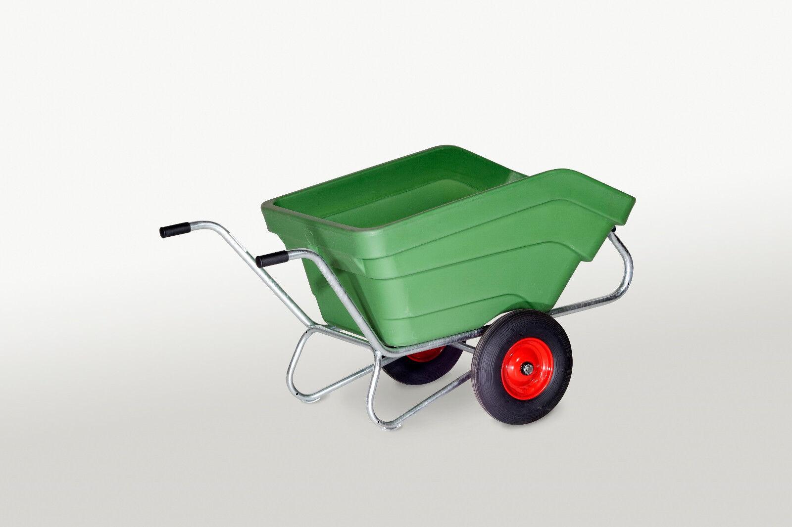 Hofkarre Karre 2-Radkarre Schubkarre 350 Liter pannensichere Räder verzinkt