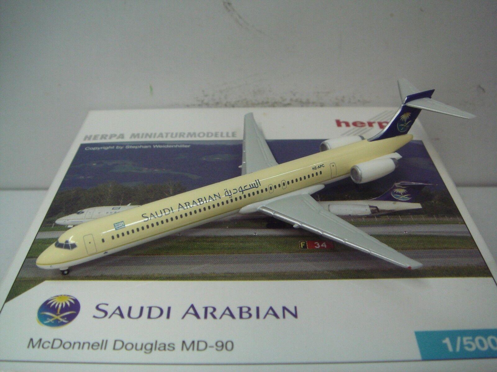 Herpa Wings 500 Saudi Arabian Airlines MD-90  1996s Coloreee  1 500 NG