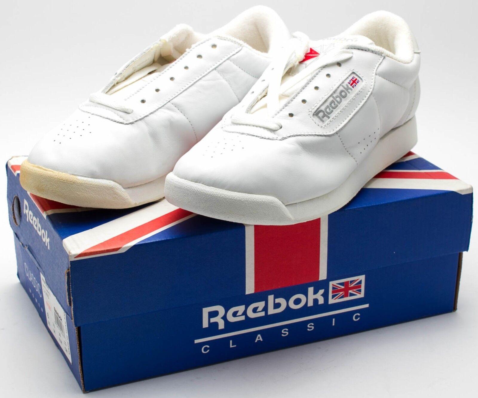 Reebok femmes  Vintage 1990's OG Princess Shoe  blanc  2-1475 sz. 6 Discoloration