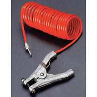 Rac-10 Coiled Grounding Wire, Clamp, 10 Ft.