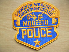 Patches: CITY OF MODESTO (California) POLICE PATCH (New, approx.4 x 4 inch)
