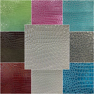 Gator-Embossed-Vinyl-Faux-Leather-Upholstery-Fabric-By-The-Yard-54-034-W-Tablecloth