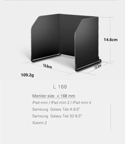 L168 for DJI MAVIC Spark Phantom4 PRO Osmo PAD Monitor Hood Sunshade Sun RC FPV