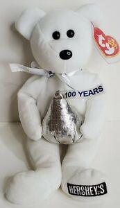 "TY Beanie Babies ""HUGSY"" the Hershey's Teddy Bear - MWMTs! WALGREENS EXCLUSIVE!"