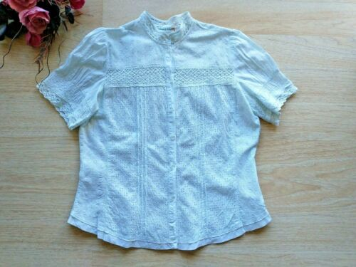 Johnny Was 100% Cotton Embroidered Eyelet Lace Top