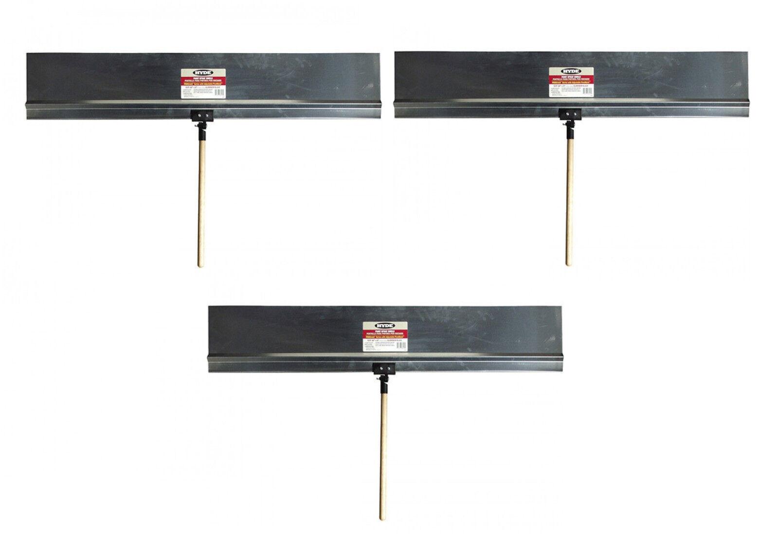 3 Hyde Tools ProShield Stiff Rigid Aluminum 36  X 9  Paint Shield + Handles