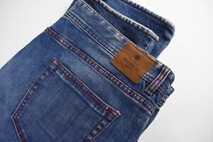 Luigi Borrelli Camerelle-LB Homme W38 Extensible Fade Effet Jeans Bleu 28826-JS
