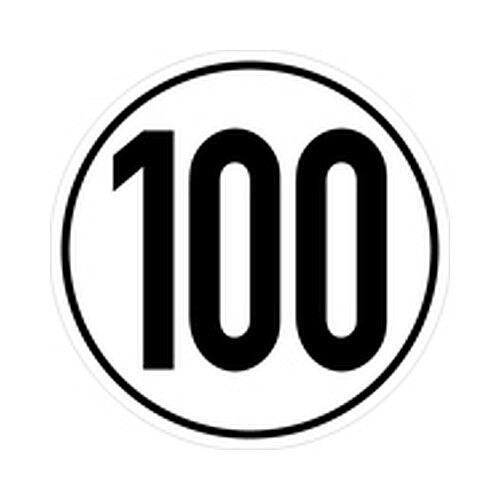 Geschwindigkeitsschild Kraftfahrzeuge Ø20cm Geschwindigkeit 100